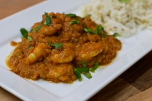 Naga Chilli Prawn Curry